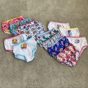 Lot of unused toddler girl undies